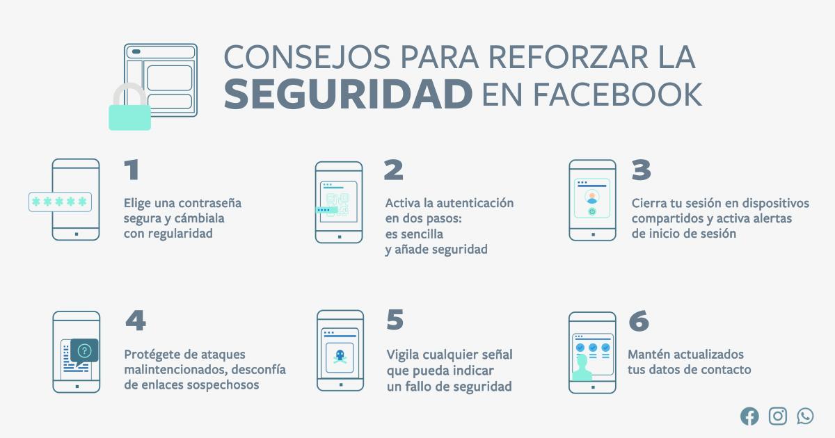 6 consejos de Facebook para reforzar la seguridad en tus perfiles de redes sociales ⋆ Red Mujeres x El Mundo
